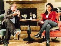 """דורית רביניאן ודיויד סמואלס בשיחה במסגרת אירועי פסטיבל """"היום השביעי"""".י"""