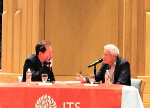 פרופסור עומר ברטוב בשיחה עם פול הולדנגרבר בג'ואיש תיאולוג'יקל סמינרי